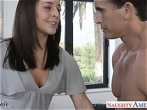 super-sexy Gracie Glam has puny milk cans and likes to pulverize