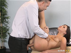 Adriana Chechik choking on her exes chisel
