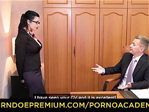 porn ACADEMIE - Romanian hot gal bi-racial double penetration romp