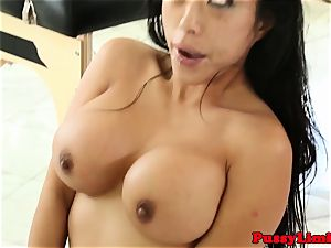 Bigtitted asian breezy humped harsh from behind