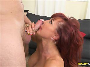 fantastic Vanessa getting her elder coochie nailed