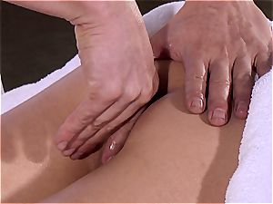 Curly Lexi gets the raunchy inner rubdown she needed