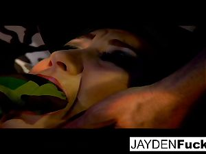 Jayden gets busy on a successful solo shaft