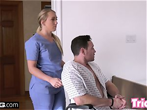 Trickery phat ass white girl AJ Applegate has romp on the job