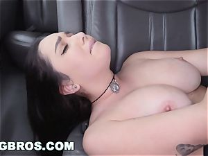 BANGBROS - thick boobies sex industry star Karlee Grey on smash Bus