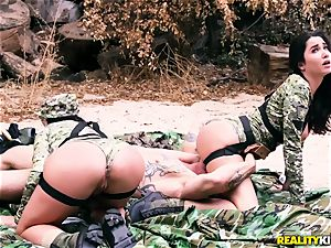 Angela milky, Karlee Grey - red-hot army tarts with giant baps
