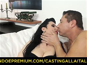 casting ALLA ITALIANA black-haired nymphomaniac harsh ass fucking hook-up