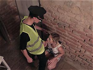 beotches ABROAD - Czech tourist Ria Sunn pokes wild cop