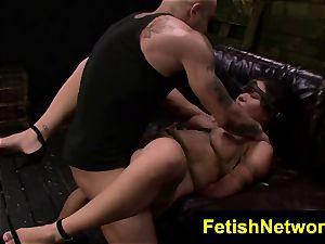 FetishNetwork Mena Li string restrain bondage fuck-a-thon