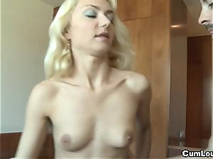 ash-blonde desire a fat fuck-stick inwards her humid cunny