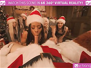 VRBangers Christams romp With Eight beautiful Elves