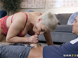 insatiable blondie caught catching a cumload