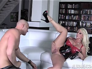 nasty Alura Jenson displays her hubby a new side of her