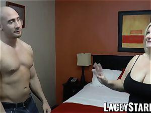LACEYSTARR - GILF seduces enormous dicked hairy man into porking