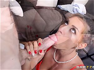 sugary-sweet reporter Rilynn Rae gets a porn industry stars meaty cock