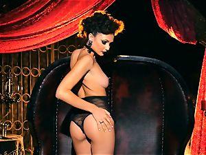 slim diminutive Ariana Marie wonderful rubber solo onanism