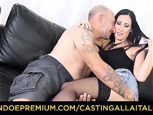 casting ALLA ITALIANA - muddy newbie anal invasion audition