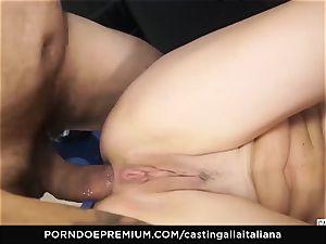 casting ALLA ITALIANA - novice ass-fuck gape and tear up