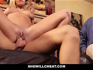 cuckold hubby watches Wifes cunt Get wrecked