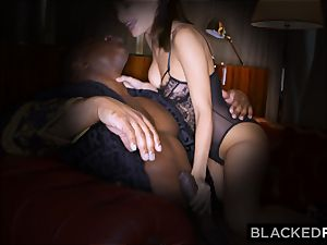 BLACKEDRAW wifey loves his enormous ebony rod a tiny too much