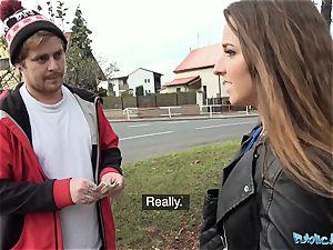 Public Agent Amirah Adara pounds a stranger