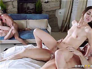 Riley Reid and Dakota James plumbed by each others dads