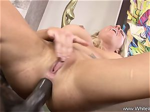 dark-hued rectal sex With blonde milf harsh bi-racial fucky-fucky