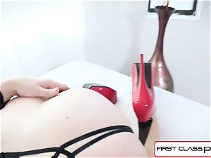 FirstClassPOV - uber-sexy Chanel Preston fellate a huge fuck-stick