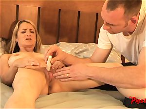 Real couple inborn bang-out wife climaxes and creampie