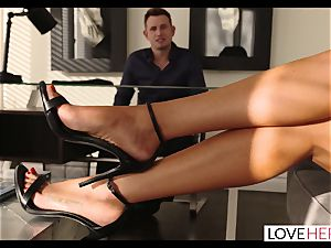 super hot customer Repays Her Lawyer In a mischievous foot romp Session