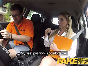 faux Driving college Georgie Lyall Off Duty hump