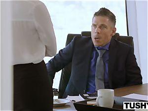 TUSHY Bree Daniels first-ever rectal fuckfest gig