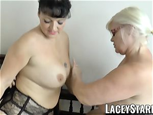 LACEYSTARR - Mature physician pulverized by interracial duo