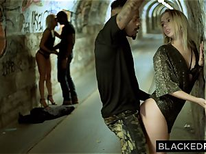 BLACKEDRAW 2 Blondes bang two authoritative BBCs After A Night At The Club