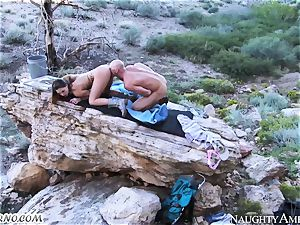 naughty superslut gets boinked in the mountains with prostitute