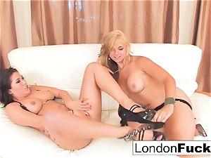 sensuous allurement with London and Sarah
