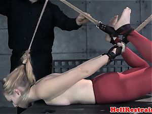 frog-tied marionette gagged and predominated by sir