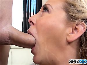 milf Cherie Deville slurps up rigid pink cigar