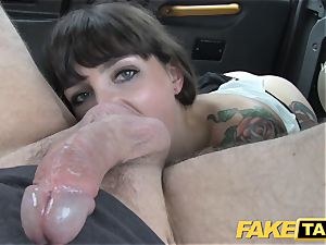 fake taxi dark-haired does anal down to the pouch