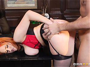 red-haired assistant Siri gets her fucking partners immense meatpipe