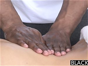 BLACKED warm Southern blond Takes ample dark-hued man rod
