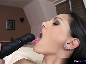bombshell Eve Angel oral fixation with her favourite fake penis
