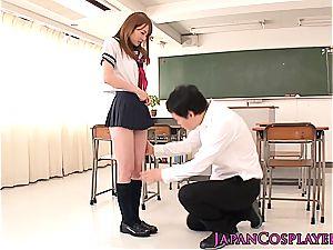 Smoking molten Kirino Kousaka nasty for a large bone after class