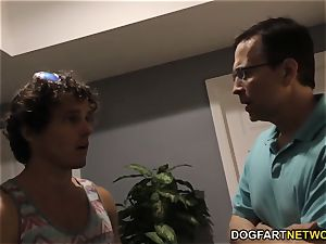 cheating bro and dad watch Lana Rhoades takes bbc