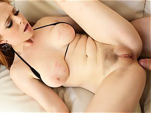 redhead Penny Pax screws with her furry snatch