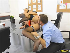 Office plumb with the secretary Aubrey Rose who happens to be the bosses daughter-in-law