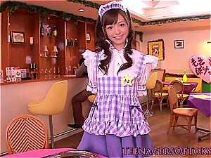 nice waitress providing handjobs