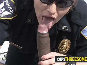 weirdo is subdued into stuffing mummy cops cootchie deep on a rooftop