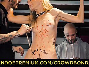CROWD bondage small victim nymphomaniac fetish group fuck-a-thon