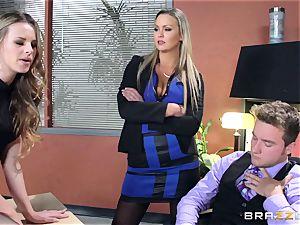 Abbey Brooks gives Jillian Janson some interview advice